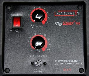 Longevity MIGweld 140 controls