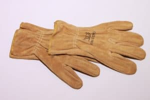 New leather welding gloves