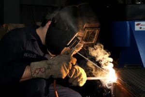 Stick welding with Rod